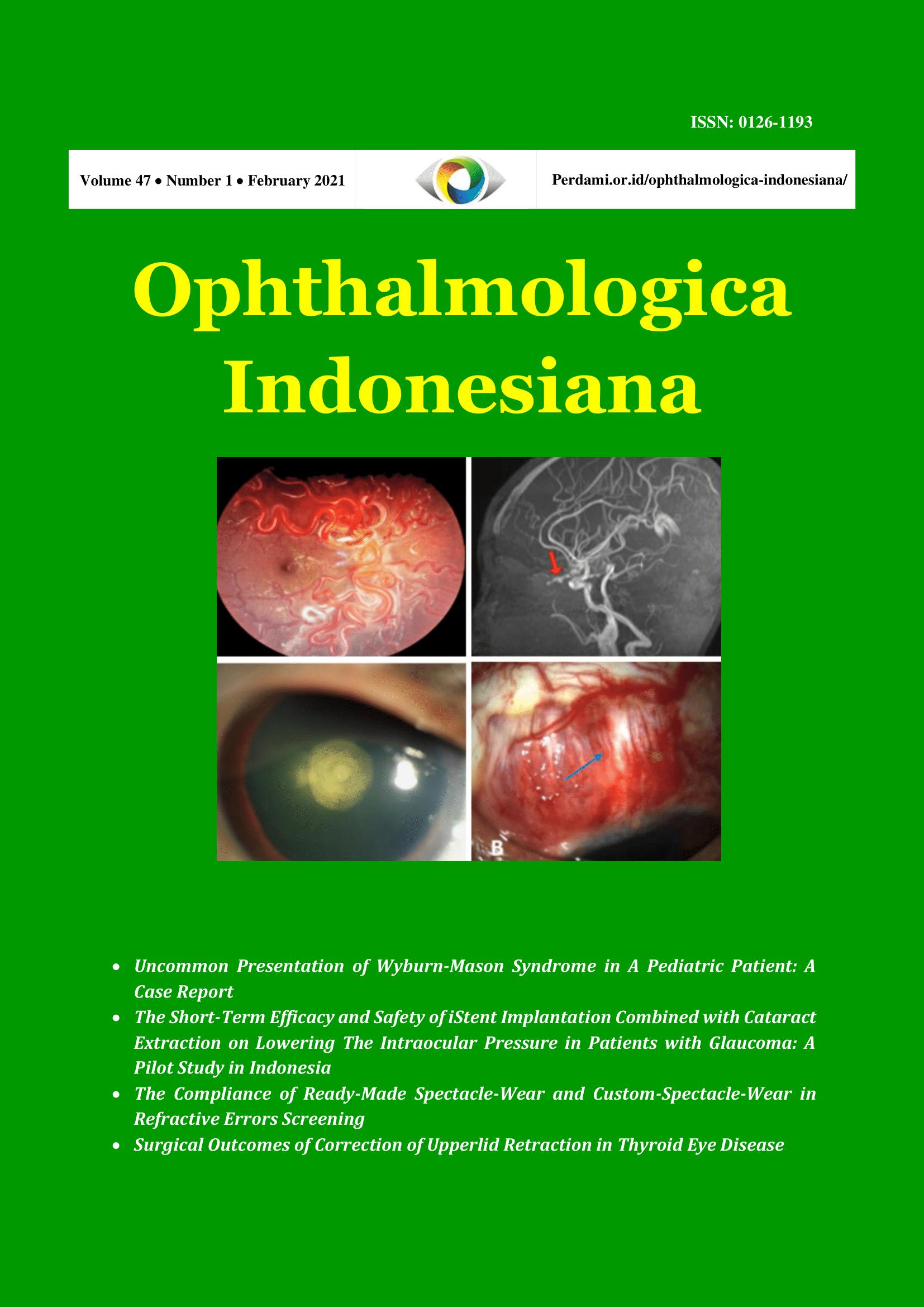 View Vol. 47 No. 1 (2021): Ophthalmologica Indonesiana
