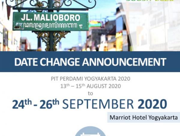 Date Change Announcement PIT 45 Yogyakarta